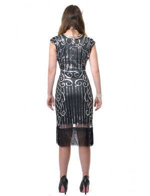 Ritzy Black and Silver Deluxe Women's Plus Size Gatsby Costume