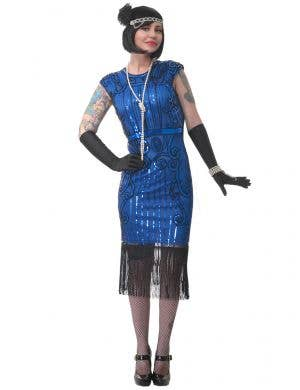 Deluxe Ritzy Plus Size Women's 1920's Gatsby Dress Up Costume - Main View