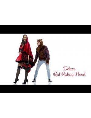 Dark Little Red Riding Hood Deluxe Women's Costume