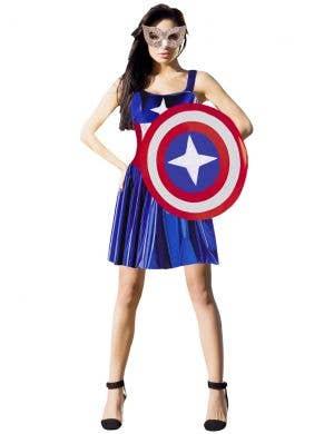 Cheap Captain America Inspired Womens Costume