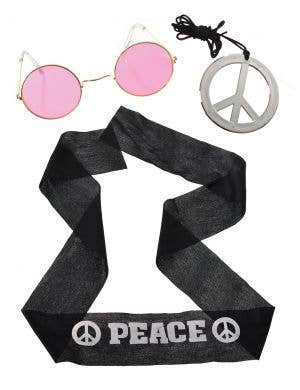 Generation Hippie Adults Peace and Love Costume Kit