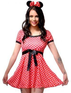 Polka Dot Women's Minnie Mouse Dress Up Costume