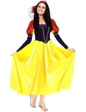 Women's Long Snow White Fairytale Dress Up Costume
