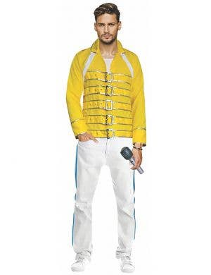 Yellow Freddie Mercury Costume for Men