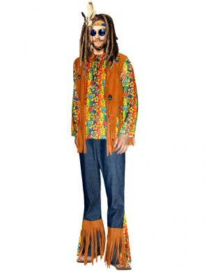 Men's Peace and Love Hippie Costume - Main Image