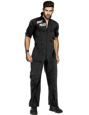 Black SWAT Uniform Dress Up Costume for Men Main Image