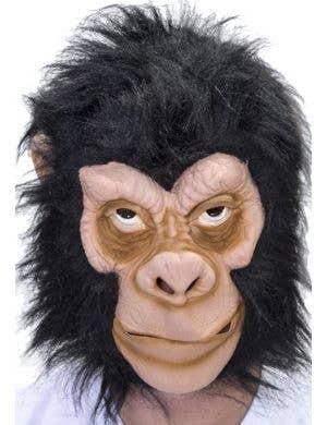 Monkey Latex Costume Mask with Black Fur