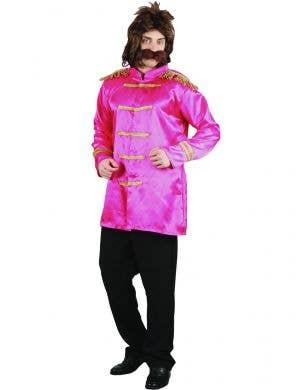 Men's Pink Sgt Peppers Beatles Dress Up Costume