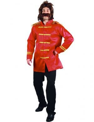 Men's Red Sgt Peppers Beatles Dress Up Costume