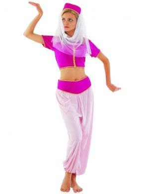 Womens Sexy Pink Harem Girl Dress Up Costume