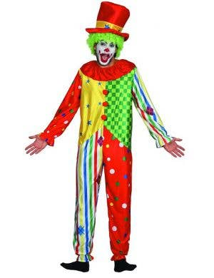 Colourful and Spotty Clown Dress Up Costume for Men