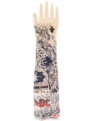 AC-DC Rock Star Tattoo Sleeve Costume Accessory