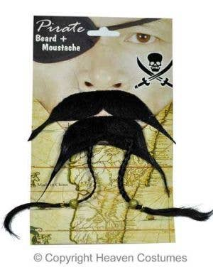 Jack Sparrow Pirate Cosutme Beard And Plaited Moustache