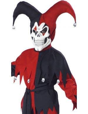 Evil Boy's Court Jester Fancy Dress Halloween Costume