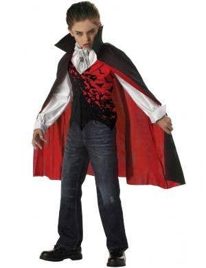 Dracula Boy's Vampire Halloween Monster Costume Front