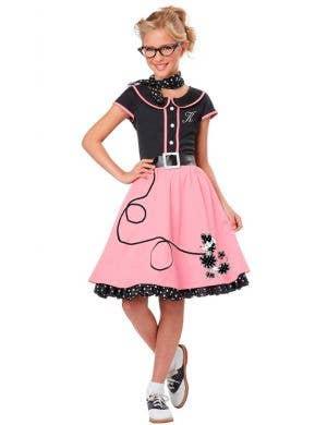 50's Sweetheart Girl's Retro Fancy Dress Costume