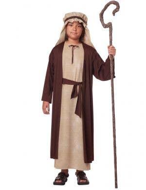 Boy's Joseph Bible Nativity Christmas Fancy Dress Costume Front
