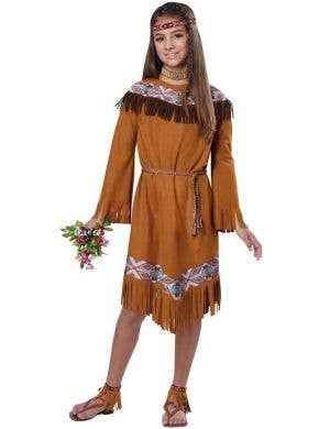 Classic Native Indian Maiden Girls Costume