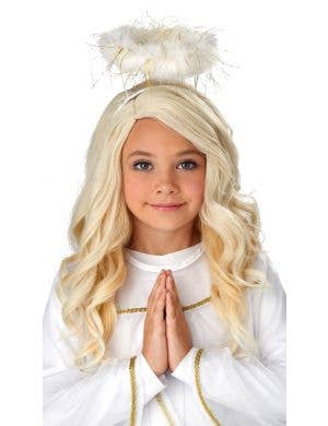 Golden Angel Girl's Wavy Blonde Wig Costume Accessory
