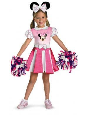 Minnie Mouse Cheerleader Girl's Disney Costume Main Image