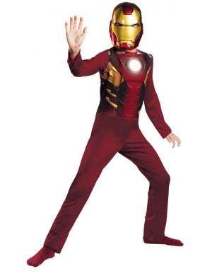 Boy's Marvel Avengers Iron Man Superhero Mark 7 Armour Fancy Dress Costume Main Image