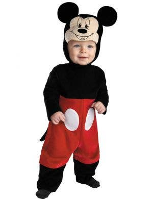 Infant Boy's Mickey Mouse Disney Baby Black And Red Fancy Dress Costume Jumpsuit Main Image