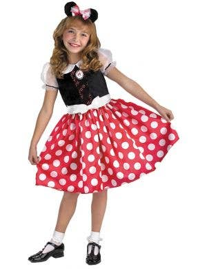 Classic polka dot Minnie Mouse Disney Girl's costume Main Image