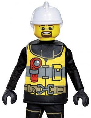 Lego Fire Fighter Deluxe Boys Costume