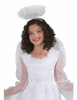 Glittery Kids White Angel Wings and Halo