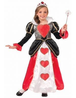Girl's Red Queen of Hearts Costume Front View