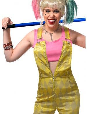 Bird's of Prey Harley Quinn Inspired Teen Girl's Overalls Costume