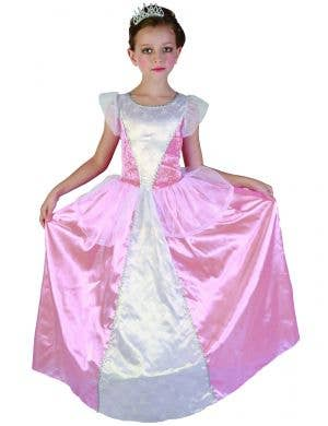 Pink Princess Girls Fairytale Dress Up Costume with Crown