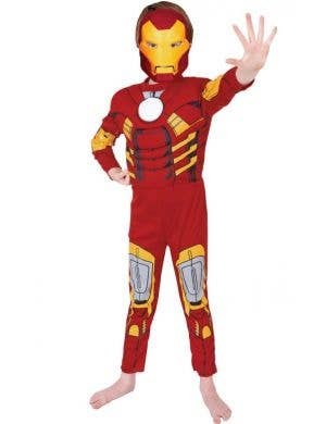 Deluxe Iron Man Avengers boys costume main image
