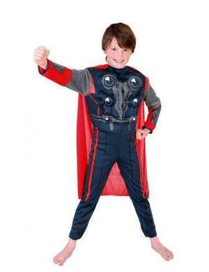 Boy's Thor God Of Thunder Superhero Marvel Avengers Costume Front