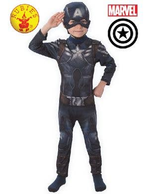 The Winter Soldier Boys Captain America Superhero Costume Main Image