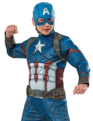 Captain America Deluxe Muscle Chest Boys Costume