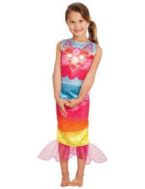 Rainbow Mermaid Barbie Costume for Girls