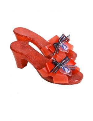 Disney Princess Snow White Girl's Red Glitter Costume Shoes