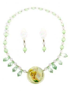 Kids Tinkerbell Necklace and Earrings Set - Main Image