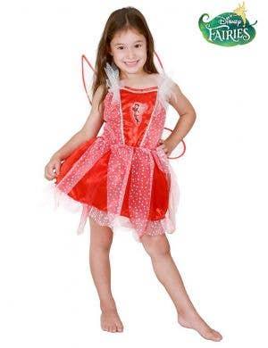 Rosetta Red Fairy Girls Costume - Main Image
