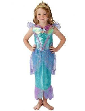 Disney Princess Girl's Deluxe Little Mermaid Ariel Fancy Dress Costume