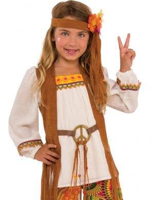 1970's Flower Child Girls Hippie Costume