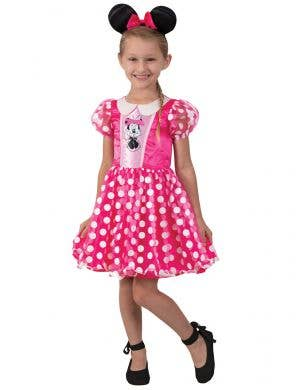 Pink and White Polka Dot Girl's Minnie Mouse Costume