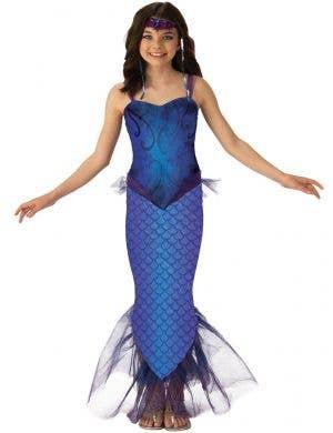 Mythical Blue Mermaid Costume for Girls