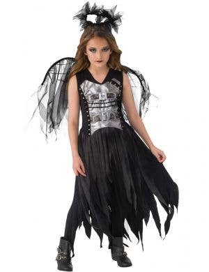 Girl's Chained Gothic Fallen Angel Halloween Costume