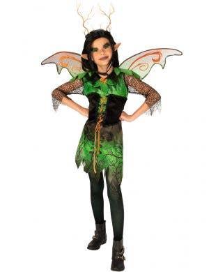 Forest Green Elf Girl's Halloween Fancy Dress Costume