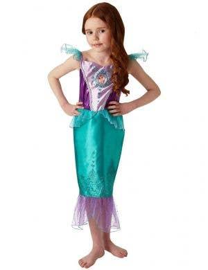 Girls Ariel Little Mermaid Costume - Main Image