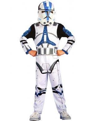 Clone Trooper 501st Legion Action Suit Star Wars Boys Costume Image