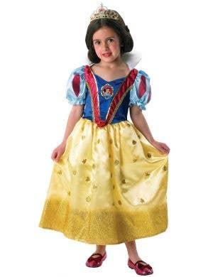 Disney Princess Girl's Snow White Glitter Deluxe Costume