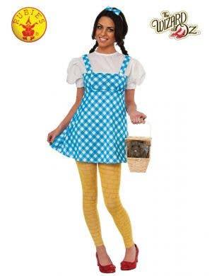 Teen Girls Dorothy Wizard of Oz Fancy Dress Costume Main Image